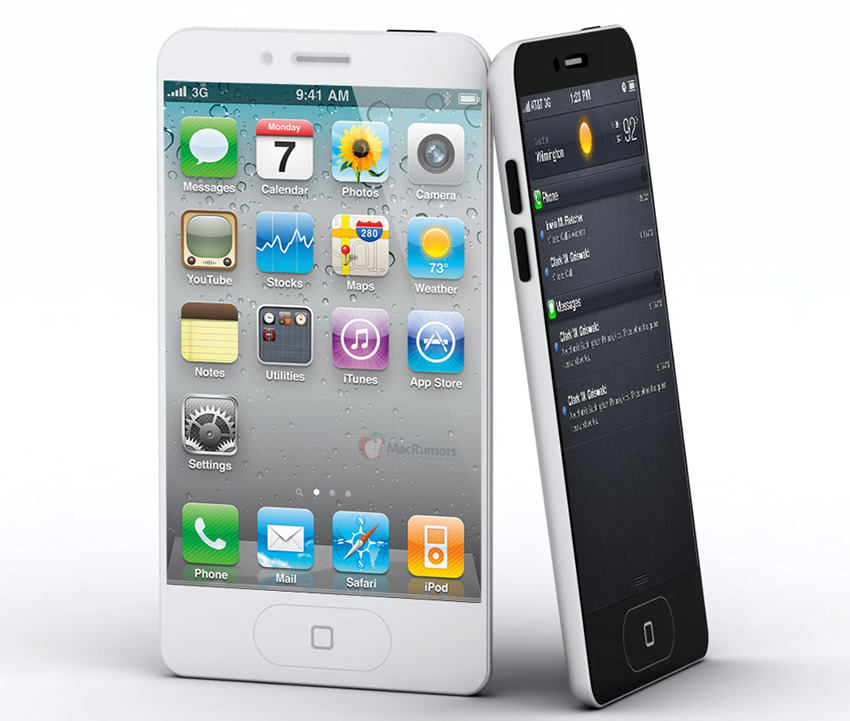 maquete iPhone 5