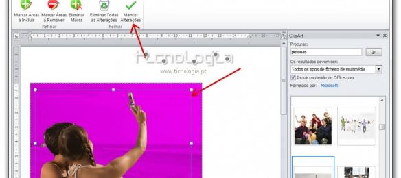 remover fundo de uma imagem no office