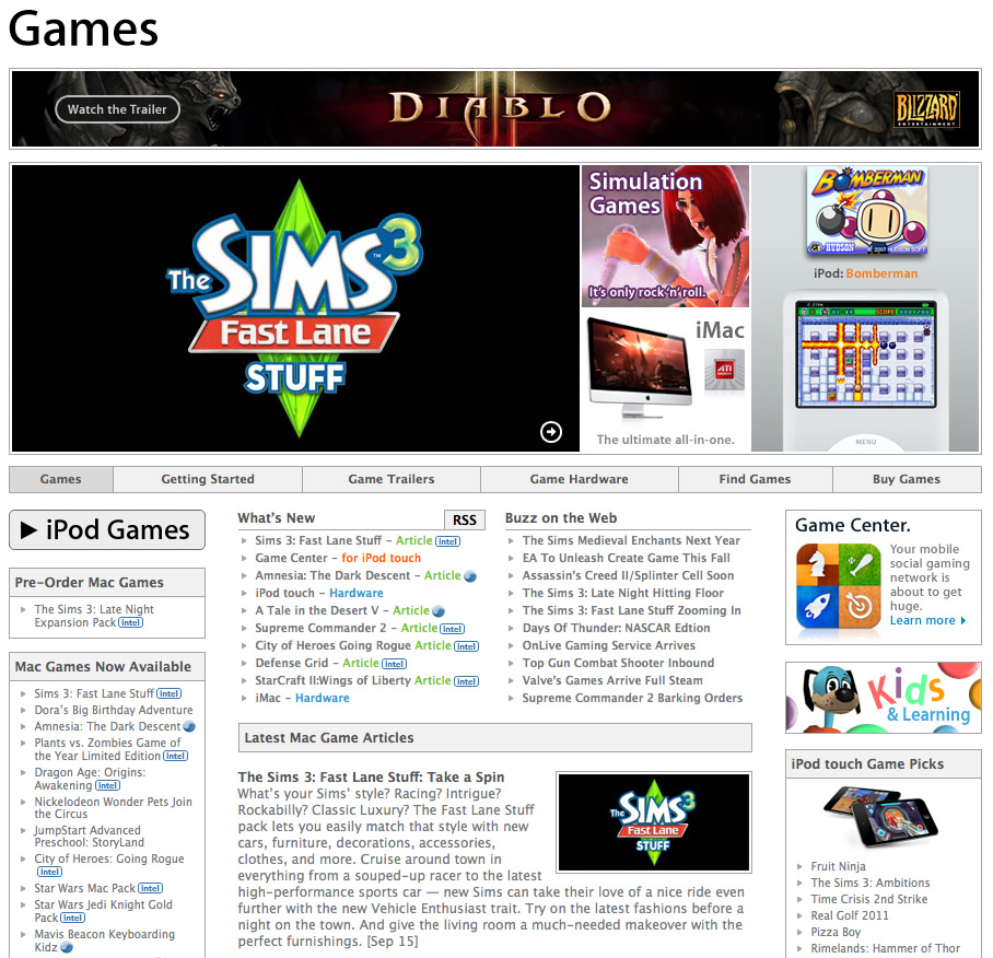 Apple-games-site