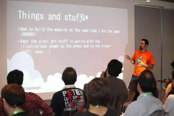 Game Dev camp 2014 - Sala Visual Arts - Filipe Pina da Nerdmonkeys