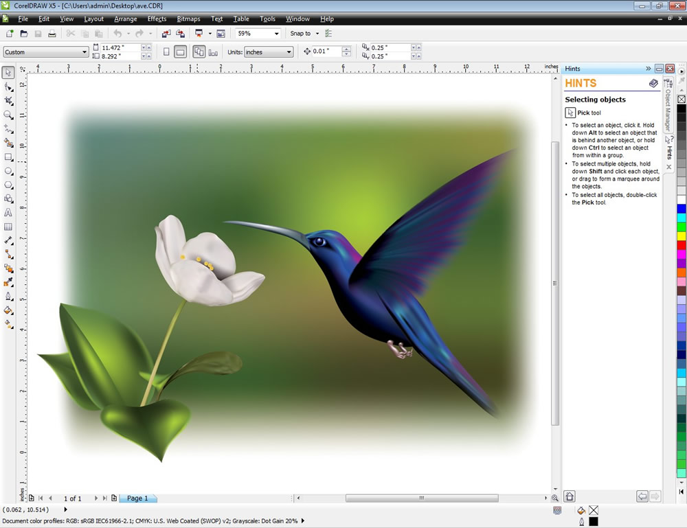 CorelDRAW X5 - screenshot